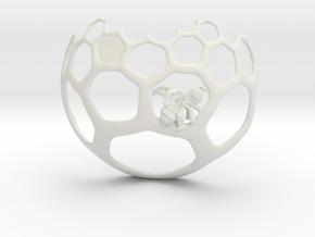 Honeycomb Pendant - Sweet Math! in White Natural Versatile Plastic