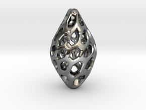 HONEYBIT Twist Pendant in Fine Detail Polished Silver