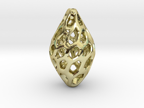 HONEYBIT Twist Pendant in 18k Gold Plated Brass