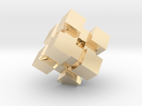 WeightCube Paperweight in 14K Yellow Gold