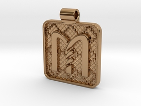 Saxon Pendant M in Polished Brass
