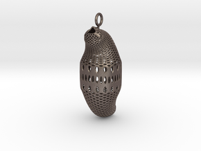 Diatom style #1 in Polished Bronzed Silver Steel