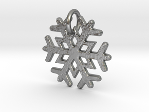 Snowflake Pendant B in Natural Silver