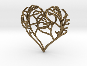 Complicated Passion in Polished Bronze