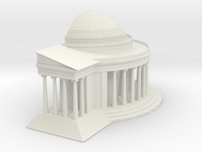 Jefferson Memorial Model 1 Half Small in White Natural Versatile Plastic