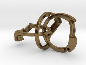 OoO Ring - Interlocking Metal in Polished Bronze (Interlocking Parts)