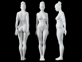 1:24 1:10 Bikini Girl 010 in White Natural Versatile Plastic: 1:10