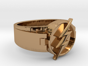V2 Flash Ring Size 11 20.68mm in Polished Brass