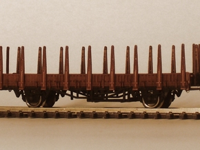 1/148 German train-ferry wagon, 40t-glw low in Smooth Fine Detail Plastic