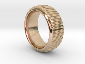 Coin Edge 1 Size 10 in 14k Rose Gold Plated Brass