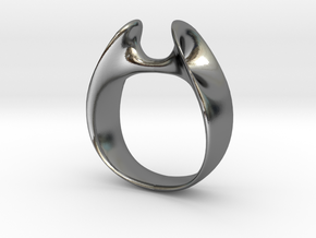 Wormhole Ring Size 12 in Polished Silver