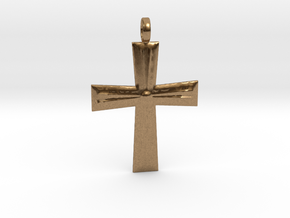 Cross Pendant in Natural Brass