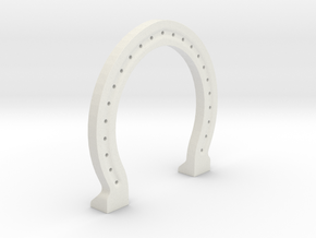 Horse Shoe ~Ambidextrous~ in White Natural Versatile Plastic