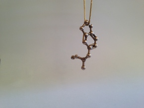 MDMA Molecule Keychain Necklace in Stainless Steel
