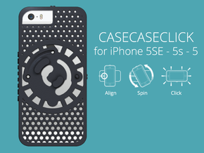 for iPhone 5SE - 5s - 5 : cel : CASECASE CLICK  in Black Strong & Flexible