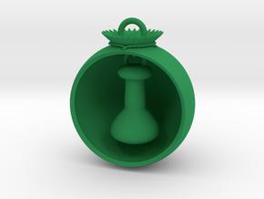 Christmas Ball Volumetric Flask in Green Processed Versatile Plastic