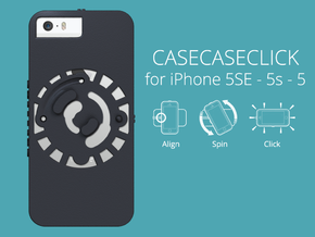 for iPhone 5SE - 5s - 5 : smooth : CASECASE CLICK  in Black Strong & Flexible