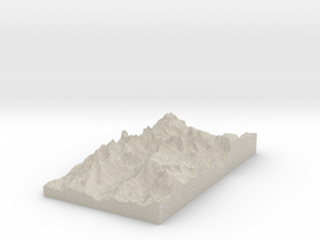 Model of Mount Helen in Sandstone