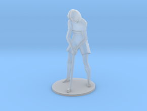Female Golfer-Putting S-Scale in Frosted Extreme Detail