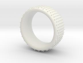 Dot 1 ring in White Natural Versatile Plastic: 9.5 / 60.25