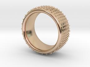 Dot 1 ring in 14k Rose Gold Plated Brass: 9.5 / 60.25