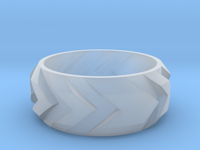 Arrow Ring in Smooth Fine Detail Plastic