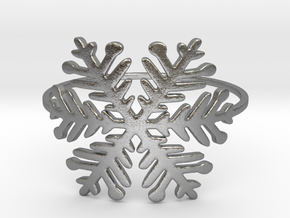 A Snowflake (Size 4-11.25) in Natural Silver: 9 / 59