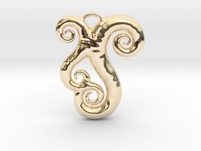 Sea Swirls in 14k Gold Plated Brass