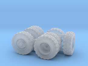 1/64 Scale Off-Road Wheel Set in Frosted Ultra Detail