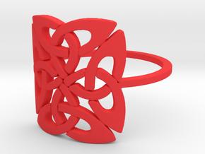 Triquetra (Size-4-13) in Red Processed Versatile Plastic: 4 / 46.5