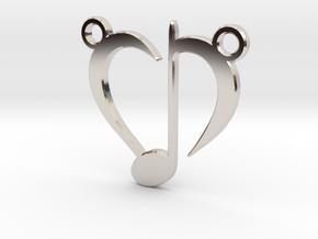 Love Music in Rhodium Plated Brass