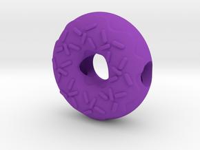 Donut European Charm Bracelet Bead in Purple Processed Versatile Plastic