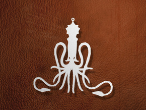 Greyjoy Ornament / Pendant in White Strong & Flexible