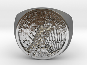 One Dollar 1921 in Polished Silver