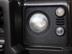 Defender Headlamp Surrounds  in White Processed Versatile Plastic