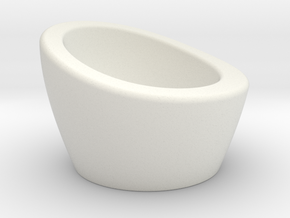NEST Egg Cup in White Natural Versatile Plastic