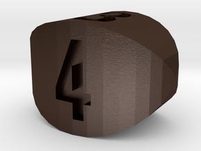 d4 steinmetz cigar stub die in Matte Bronze Steel