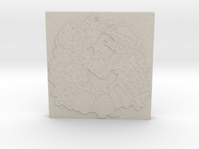 Abundance Horseshoe 1 Tile by Gabrielle in Natural Sandstone