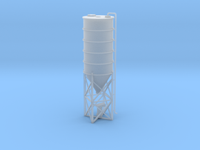 N Scale Cement Silo WSF in Smooth Fine Detail Plastic
