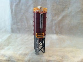 N Scale Cement Silo FUD in Smooth Fine Detail Plastic