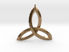 Celtic Knot Medallion in Natural Brass
