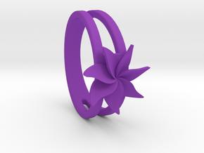 Flower Ring Size 5.5 in Purple Processed Versatile Plastic