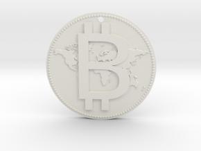 World Bitcoin Medal in White Natural Versatile Plastic