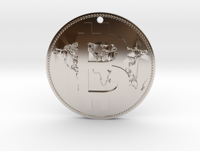 World Bitcoin Medal in Rhodium Plated Brass