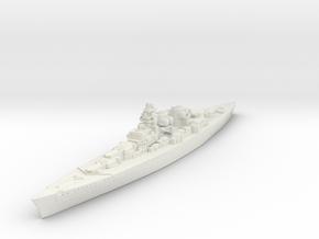 H-39 Class German Battleship (Global War Scale) Qt in White Natural Versatile Plastic