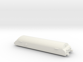 Low Res Brake Tender With Lamps in White Natural Versatile Plastic: 1:148