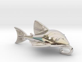Royal Pleco necklacs Charm in Platinum: Large