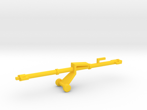 1/144 Scale Aircraft Tow Bar in Yellow Strong & Flexible Polished