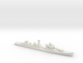 Kotlin-class destroyer (w/ SA-N-1B), 1/1800 in White Natural Versatile Plastic