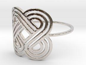 Eternal (Size 6-13) in Rhodium Plated Brass: 6 / 51.5